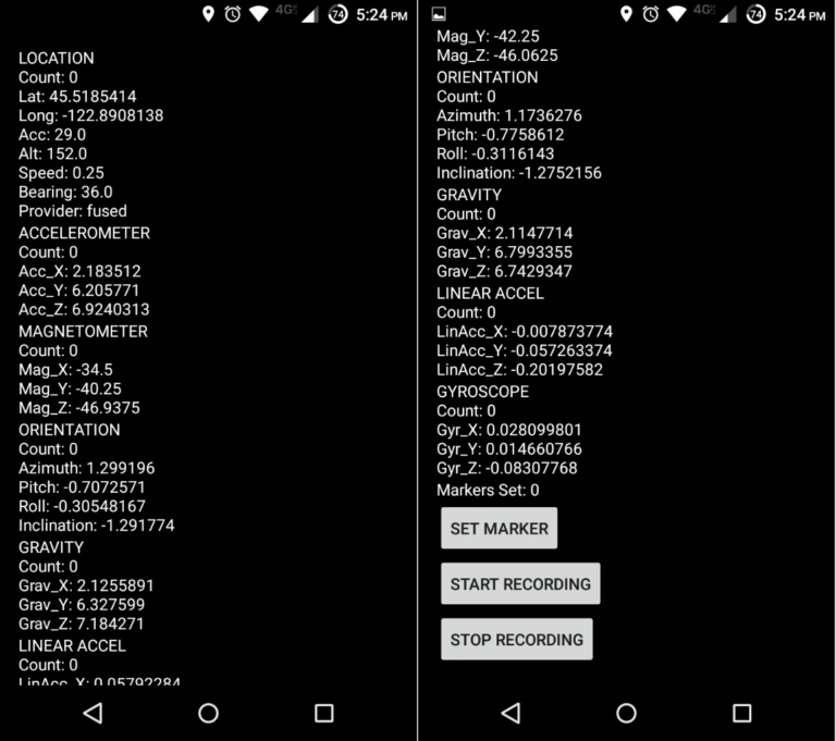 Increasing GPS Accuracy using Accelerometer Data I – Creating an Android App to Record Data